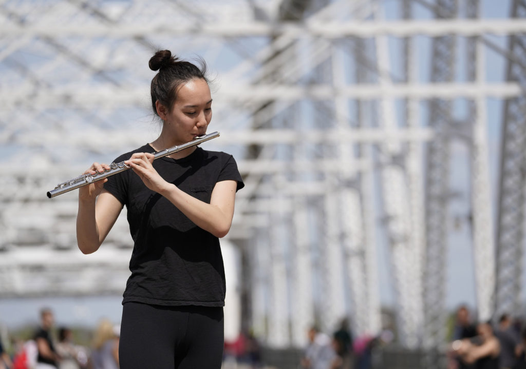 Blair Flute Studio Performance on Pedestrian Bridge Blair's flute students will be doing a performance art event on the pedestrian bridge. We would love photos of our flutists in the wild!